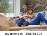 beautiful woman man couple... | Shutterstock . vector #588786308