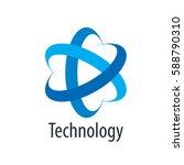 vector logo technology   Shutterstock .eps vector #588790310
