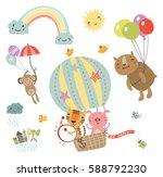 sweetheart illustration. flying ... | Shutterstock .eps vector #588792230