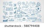infograph set of hand drawn... | Shutterstock . vector #588794408