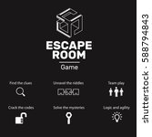 logo and icons for quest escape ... | Shutterstock .eps vector #588794843