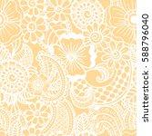 paisley mehndi seamless pattern....   Shutterstock .eps vector #588796040