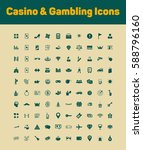 casino and gambling icon set   Shutterstock .eps vector #588796160
