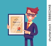 handsome successful businessman ... | Shutterstock .eps vector #588802448
