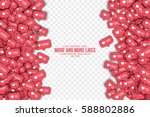 vector 3d like counter icons in ... | Shutterstock .eps vector #588802886