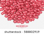 vector 3d like counter icons in ... | Shutterstock .eps vector #588802919