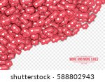 vector 3d like counter icons in ... | Shutterstock .eps vector #588802943