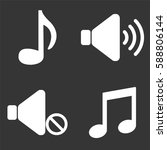 music and audio icons set...