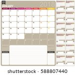 english calendar template for... | Shutterstock .eps vector #588807440