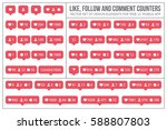 set vector flat counter icons...