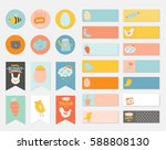 easter greeting gift tags ... | Shutterstock .eps vector #588808130