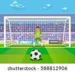 Soccer. Goalkeeper  Vector...
