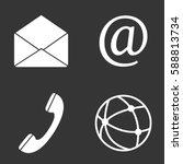 communication web icons set...   Shutterstock .eps vector #588813734