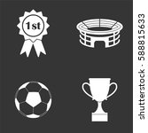 football icons set isolated on  ... | Shutterstock .eps vector #588815633