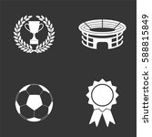 football icons set isolated on  ... | Shutterstock .eps vector #588815849
