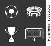 football icons set isolated on  ... | Shutterstock .eps vector #588816020