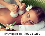body care. spa body massage... | Shutterstock . vector #588816260