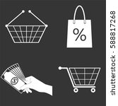 shopping icons set isolated on... | Shutterstock .eps vector #588817268