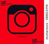 photo camera icon.social media... | Shutterstock .eps vector #588823598