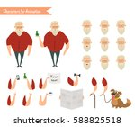 grandfather character for... | Shutterstock .eps vector #588825518