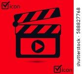 film maker clapper board  icon. ... | Shutterstock .eps vector #588827768