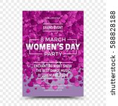 happy women's day vector flyer... | Shutterstock .eps vector #588828188