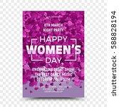 happy women's day vector flyer... | Shutterstock .eps vector #588828194