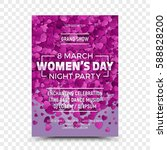 happy women's day vector flyer... | Shutterstock .eps vector #588828200