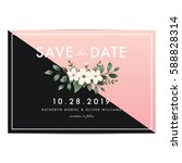 modern clean save the date... | Shutterstock .eps vector #588828314