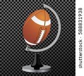 american football globe... | Shutterstock .eps vector #588831938