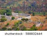 great zimbabwe citadel    Shutterstock . vector #588832664