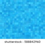 blue square mosaic background.... | Shutterstock .eps vector #588842960