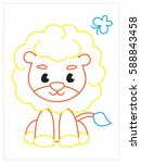 vector coloring book of cute...   Shutterstock .eps vector #588843458