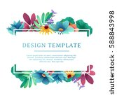 banner design template with... | Shutterstock .eps vector #588843998