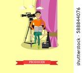 vector illustration of producer ... | Shutterstock .eps vector #588844076