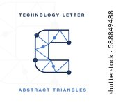 abstract letter triangle... | Shutterstock .eps vector #588849488