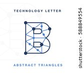 abstract letter triangle... | Shutterstock .eps vector #588849554