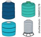 vector set of water storage tank