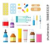 medical tablets  pills ...   Shutterstock .eps vector #588853319