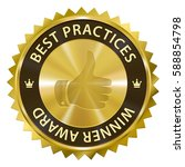best practices winner award... | Shutterstock .eps vector #588854798