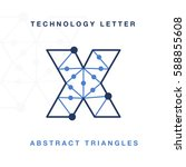 abstract letter triangle... | Shutterstock .eps vector #588855608