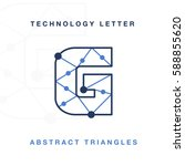 abstract letter triangle... | Shutterstock .eps vector #588855620