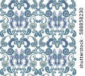 floral paisley seamless pattern.... | Shutterstock .eps vector #588858230
