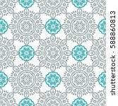 indian pattern. arabic  islamic ... | Shutterstock .eps vector #588860813