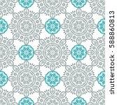 indian pattern. arabic  islamic ... | Shutterstock .eps vector #588860813