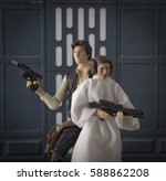 star wars han solo and princess ... | Shutterstock . vector #588862208