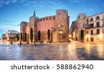 barcelona   placa nova ... | Shutterstock . vector #588862940