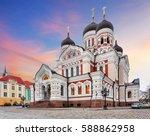 tallinn  alexander nevsky... | Shutterstock . vector #588862958