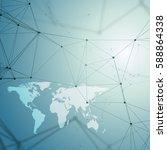 chemistry pattern  white world... | Shutterstock .eps vector #588864338