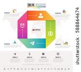 infographics design template... | Shutterstock .eps vector #588864674
